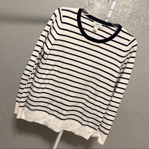 "Women's Striped ""Old Navy"" Long Sleeve Top!"